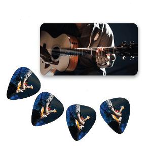 Custom Guitar Picks in a Tin